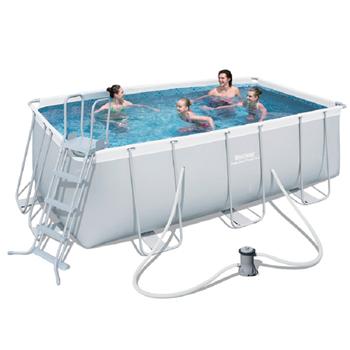 bestway 162 x 79 x 48 power steel frame pool set. Black Bedroom Furniture Sets. Home Design Ideas