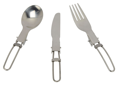 Go System 3 Piece SS Folding Cutlery Set  - Click to view a larger image