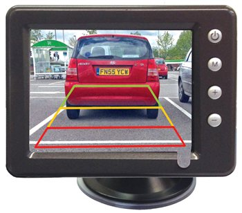 "Streetwize 3.5"" Wireless Reversing Camera System  - Click to view a larger image"