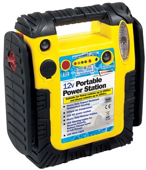 Streetwize 900 Amp Emergency Jumpstart with Compressor  - Click to view a larger image