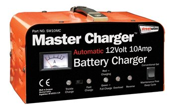 Streetwize Heavy Duty 12 Volt 10 Amp Automatic Battery Charger 10 Amp Battery Charger - Click to view a larger image