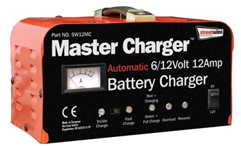 Streetwize Heavy Duty 12 Volt 12 Amp Automatic Battery Charger 12 Amp Battery Charger - Click to view a larger image