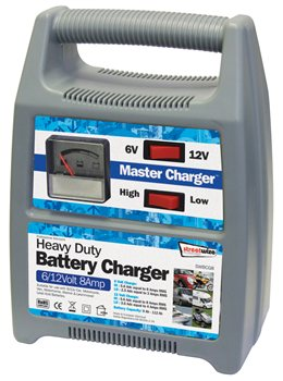 Streetwize 6 and 12V 8 Amp Automatic Battery Charger
