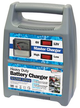 Streetwize 6 and 12 Volt 12 Amp Automatic Battery Charger 612V 12 Amp Battery Charger - Click to view a larger image