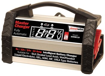 Streetwize Intelligent 10 Amp Battery Charger Intelligent 6V12V24V Battery Charger - Click to view a larger image