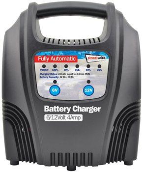 Streetwize 6 and 12V 4 Amp Fully LED Automatic Battery Charger  - Klicken Sie hier, um ein größeres Bild zu sehen