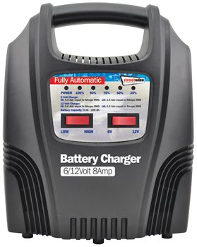 Streetwize 6 and 12V 8 Amp Fully LED Automatic Battery Charger 612V 8 Amp Fully Automatic LED Battery Charger - Click to view a larger image