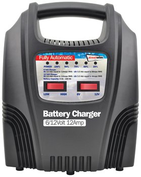 Streetwize 6 and 12V 12 Amp Fully LED Automatic Battery Charger 612V 12 Amp LED FULLY AUTOMATIC Battery Charger - Click to view a larger image