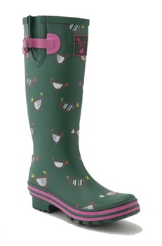 Evercreatures Tall Chicken Print Wellies