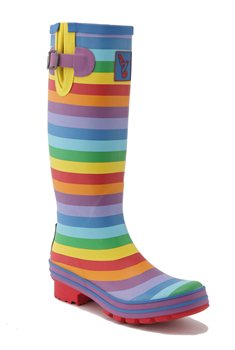 Evercreatures Tall Rainbow Print Wellies