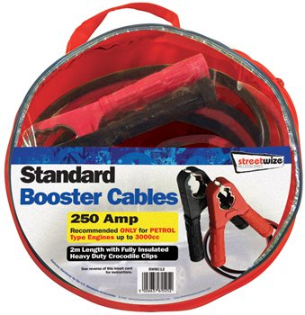 Streetwize 2M Booster Cable 250 Amp 2m Booster Cable 240 Amp - Click to view a larger image