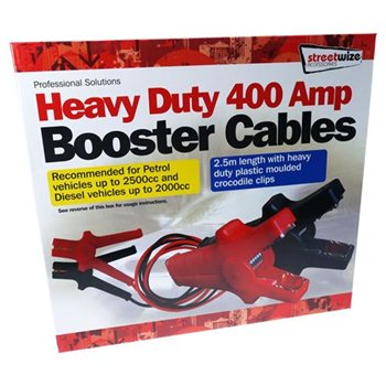 Streetwize 2.5M Plastic Mouled Booster Cable  - Click to view a larger image