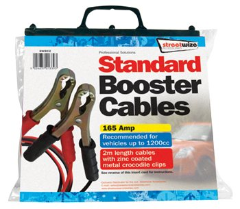 Streetwize 2M Standard Booster Cable Standard 2M Booster Cable - Click to view a larger image