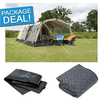 Kampa Hayling 6 Classic Air Pro Tent Package Deal 2017  - Click to view a larger image