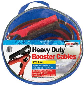 Streetwize 3M Booster Cable 270 Amp 3M Heavy Duty Booster Cable - Click to view a larger image
