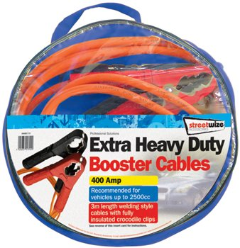 Streetwize Extra Heavy Duty 3M Booster Cable Extra Heavy Duty Booster Cable - Click to view a larger image