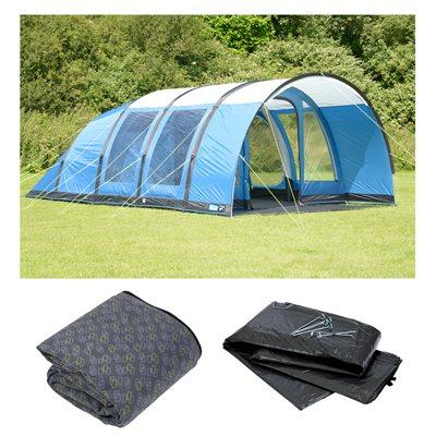 Kampa Paloma 5 Air Advantage Tent Package Deal 2018 Blue