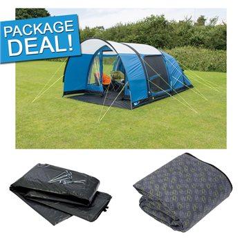 Kampa Paloma 4 Air Advantage Tent Package Deal 2017 Blue