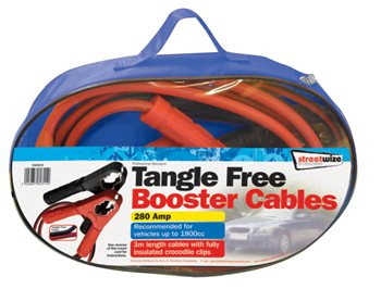 Streetwize Tangle Free 3M Booster Cable Tangle Free 3M Booster Cable - Click to view a larger image