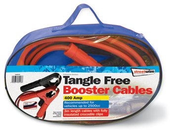 Streetwize Tangle Free 3M Booster Cable 400 Amp Tangle Free 400 Amp Booster Cable - Click to view a larger image