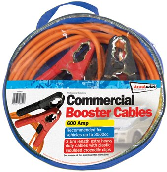 Streetwize Commercial 3.5M Booster Cable 3.5 Commercial Booster Cables - Click to view a larger image