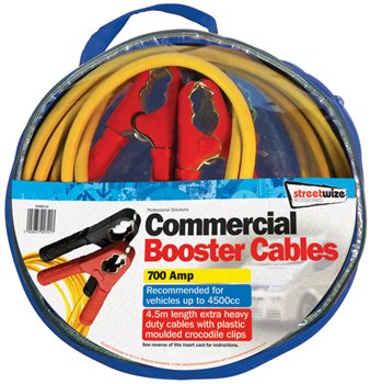 Streetwize Commercial 4.5M Booster Cable  - Klicken Sie hier, um ein größeres Bild zu sehen