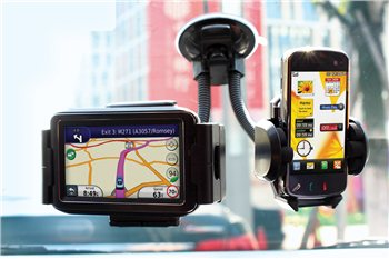 Streetwize - Twin Gadget Holder Window Fit