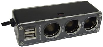 Streetwize - Triple 12V & Twin USB Power Socket