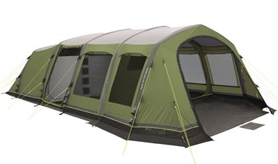 Outwell Corvette 7AC Air Tent 2018 - 7 Man, 4 room tent  - Click to view a larger image