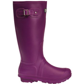 Briers Classic Rubber Look PVC Wellington Boots Purple