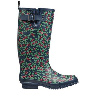 Briers Ladies Plum Floral Rubber Boots