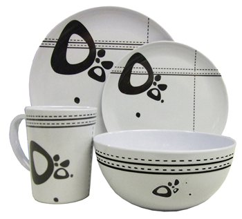 Streetwize 16pce Abstract Melamine Dinner Set  - Click to view a larger image