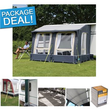 Kampa Classic Air 300 Expert Inflatable Caravan Awnings Package Deal 2017