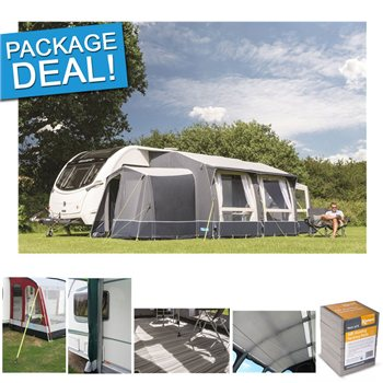 Kampa Kampa Classic Air 380 Expert Inflatable Caravan Awning Package Deal 2017