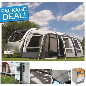 Kampa Rally Air Pro 390 PLUS Inflatable Caravan Awning Package Deal 2017 RIGHT HAND