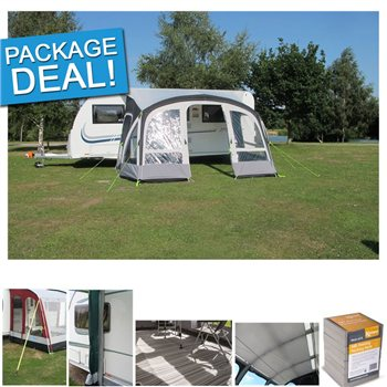 Kampa Kampa Fiesta Air Pro 420 Caravan Awning Package Deal 2017