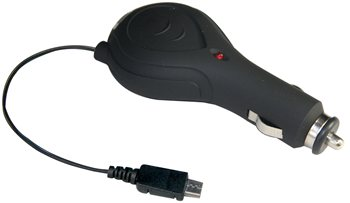 Streetwize 12V 24V Retractable Cable Car Charger for Blackberry Motorola HTC & Samsung