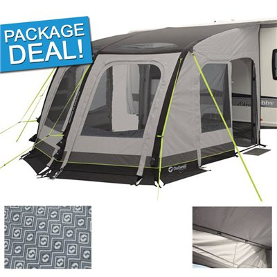 Outwell Mirage 300SA Caravan Awning Package Deal 2017  - Click to view a larger image