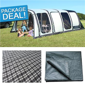 Outdoor Revolution Airedale 6 Air Tent Package Deal 2017  - Click to view a larger image