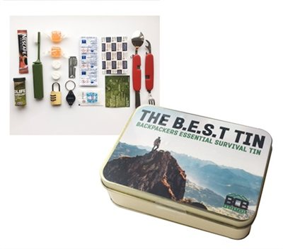 BCB Adventure Backpacker Essentials Survival Tin  - Click to view a larger image