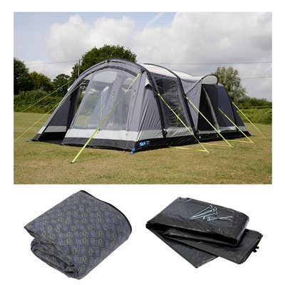 Kampa Dometic Bergen 4 Air Pro Tent Package Deal 2019  - Click to view a larger image