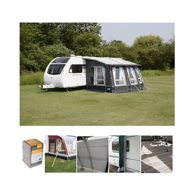 Kampa - Ace Air Pro 400 All Season Caravan Awning Package Deal 2019