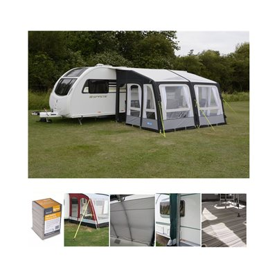 Kampa Grande AIR Pro 390 Caravan Awning Package Deal 2019