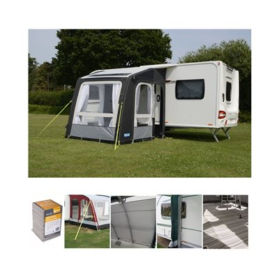 Kampa - Rally AIR Pro 200 Caravan Awning Package Deal 2019