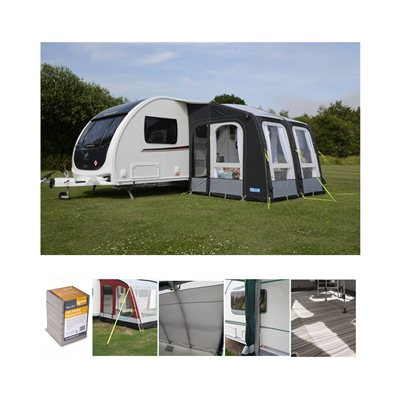 Kampa - Rally AIR Pro 260 Caravan Awning Package Deal 2019