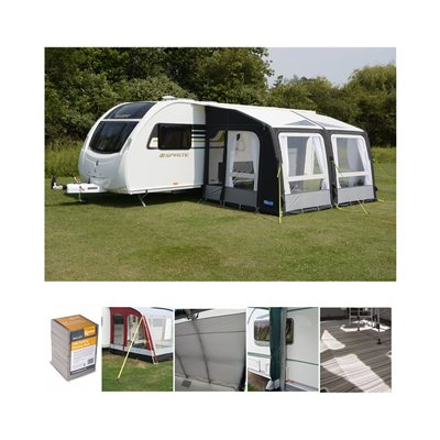 Kampa Rally AIR Pro 390 Caravan Awning Package Deal 2018
