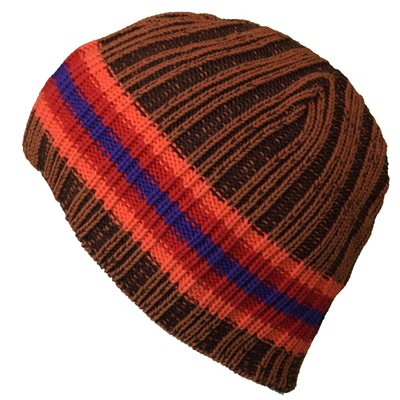 White Rock Woolly Stripe Beanie Hat   - Click to view a larger image