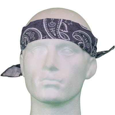White Rock Grey Pattern Cooling Headband