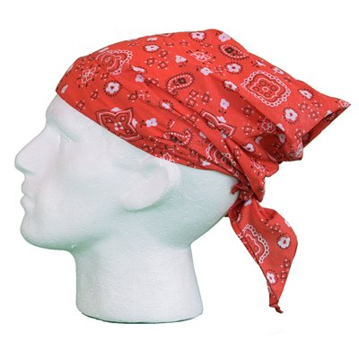 White Rock Red Pattern Bandana  - Click to view a larger image