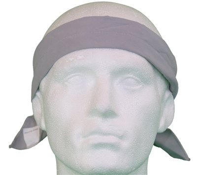 White Rock Solid Grey Cooling Headband  - Click to view a larger image